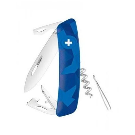 Nôž SWIZA C03 KNI.0030.2030, Camouflage Livor - modré camo
