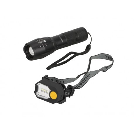 Svietidlo ručné + svietidlo čelové SUMMIT StormForce Hi-Power Tactical