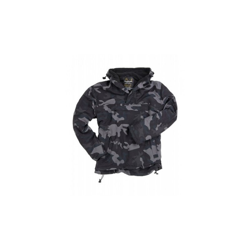 BUNDA SURPLUS TEX s kapucňou - black camo