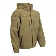 Bunda nepremokavá Gurkha Tactical Softshell, s kapucňou - olivová