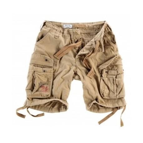 Nohavice krátke Airborne Vintage short, sprané - béžové