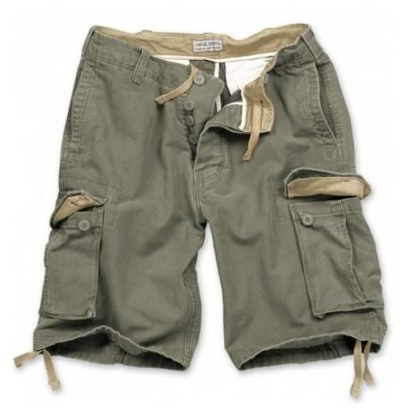 Nohavice krátke Vintage short - olivové