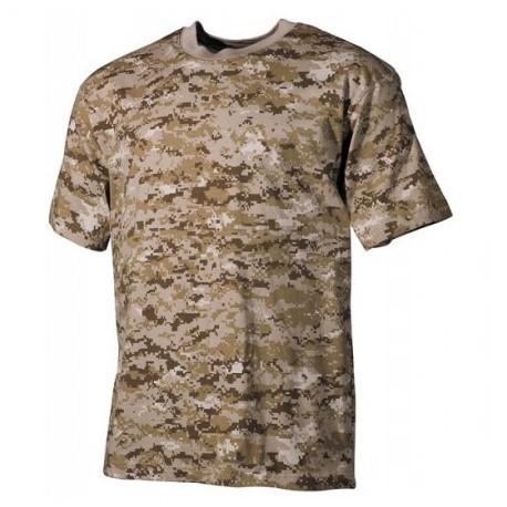 "Tričko ""US"" MFH 00104A - digital púšť"