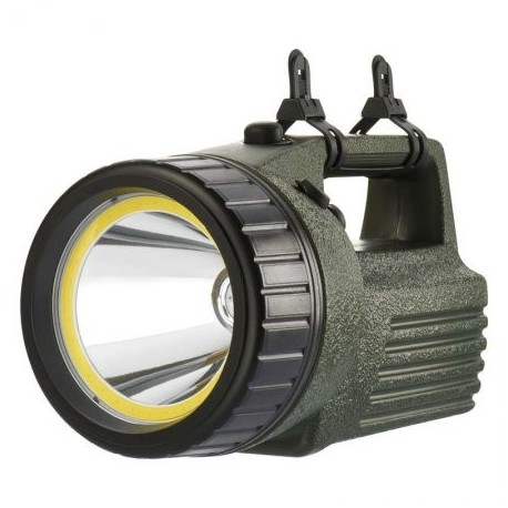 Svietidlo nabíjacie EMOS 3810 LED 10W + 3W COB LED, P2308 - olivovozelené