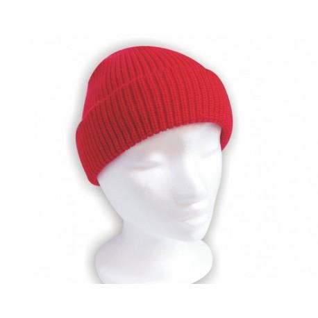 Čiapka pletená klasik - červená