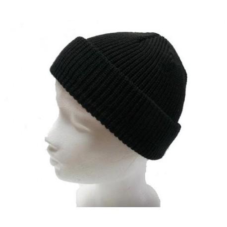 Čiapka pletená klasik - čierna