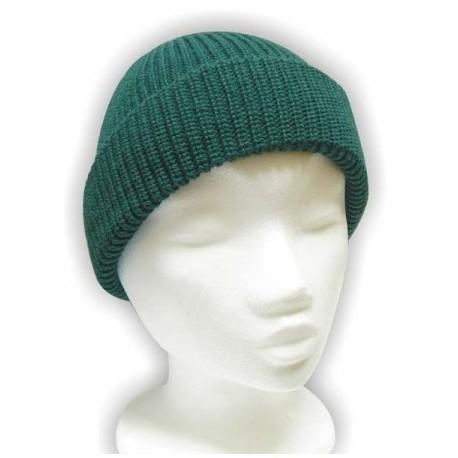 Čiapka pletená klasik - zelená