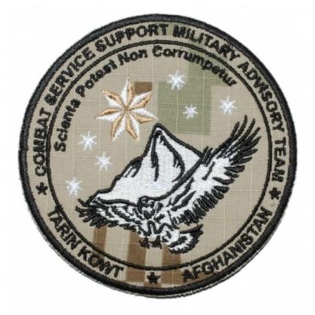 """Nášivka """"Combat Service Afghanistan"""" 9,5cm so SZ - digital púšť"""
