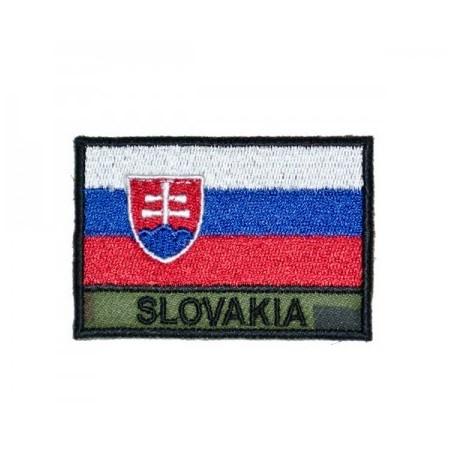 """Nášivka """"SLOVAKIA"""" farebná vlajka so SZ - digital woodland"""