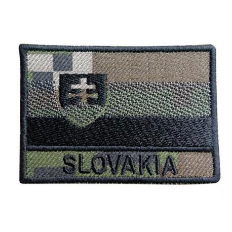"""Nášivka """"SLOVAKIA"""" vlajka so SZ - digital woodland"""