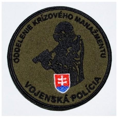 """Nášivka """"Vojenská polícia"""" 9,5cm so SZ - zelená"""