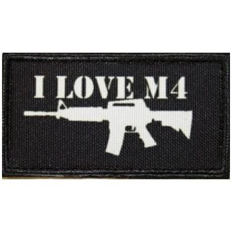 Nášivka I LOVE M4 - čierna