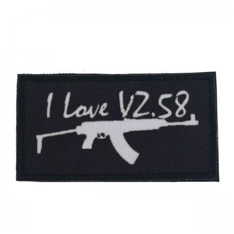 Nášivka I LOVE vz.58 - čierna