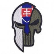 Nášivka SVK Punisher, so slovenským znakom - olivová