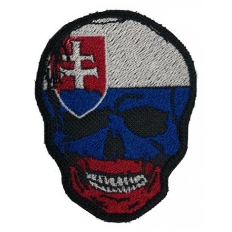 Nášivka SVK Skull, so slovenským znakom - trikolóra