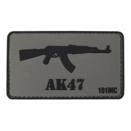 Patch AK47 3D - sivý