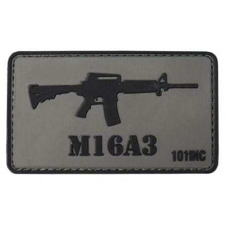 Patch M16A3 3D - sivý