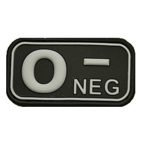 Patch označenie krvnej skupiny, 0- NEG - čierny
