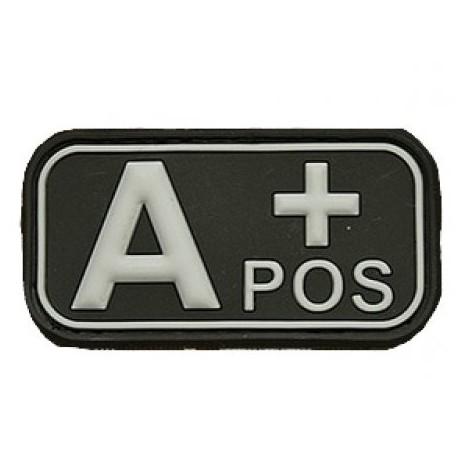 Patch označenie krvnej skupiny, A+ POS - čierny