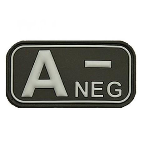 Patch označenie krvnej skupiny, A- NEG - čierny