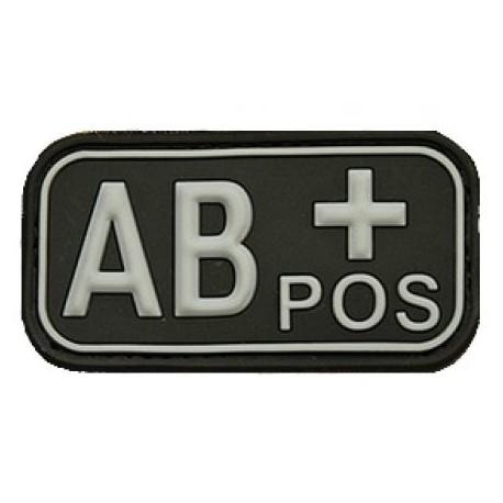 Patch označenie krvnej skupiny, AB+ POS - čierny
