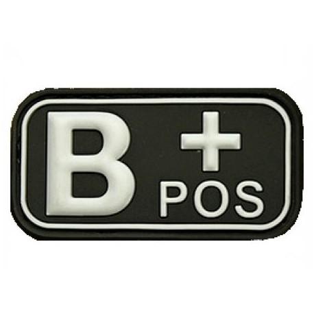 Patch označenie krvnej skupiny, B+ POS - čierny
