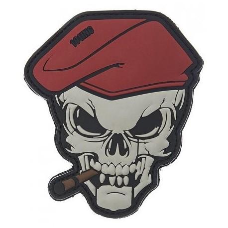 Patch Skull 3D - čierny
