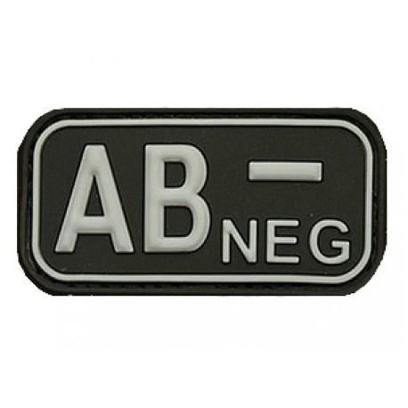 Patch označenie krvnej skupiny, AB- NEG - čierny