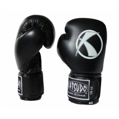 Rukavice sparingové KATSUDO Punch II 10 OZ, koženkové - čierne