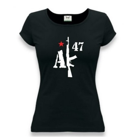 """Tričko dámske APK """"AK-47"""" - čierne"""