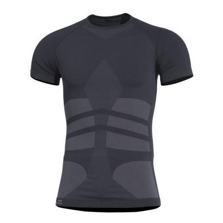 Tričko termo PENTAGON Plexis, s krátkym rukávom - čierne