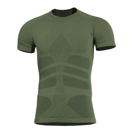Tričko termo PENTAGON Plexis, s krátkym rukávom - olivové
