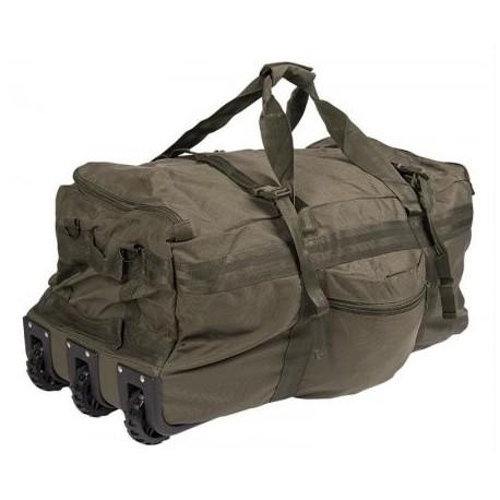 Taška cestovná MIL-TEC Combat Duffle Bag, s kolieskami - olivová