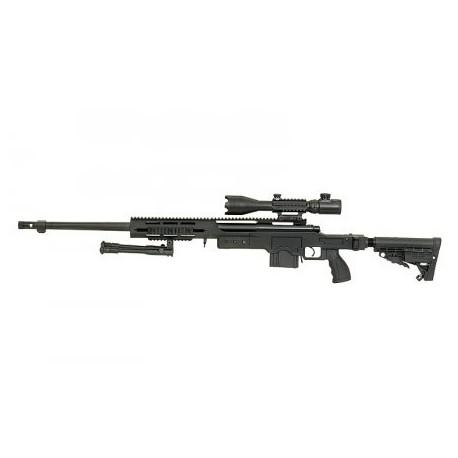 Airsoftová opakovacia odstreľovacia puška WELL MB4412A Full Metal 6mm