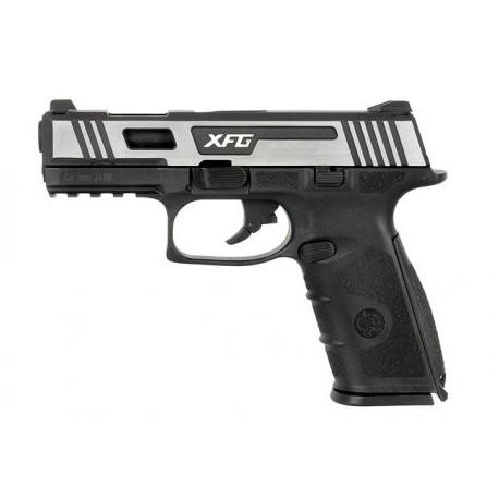 Airsoftová plynová pištoľ ICS BLE-XFG, GAS BlowBack, kal. 6mm BB - strieborná/čierna