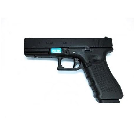 Airsoftová plynová pištoľ WE GLOCK 17 gen.4, GAS BlowBack, kal. 6mm BB - čierna