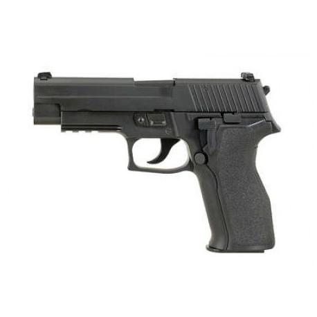 Airsoftová plynová pištoľ KJW KP-01 E2, GAS BlowBack, kal. 6mm BB - čierna