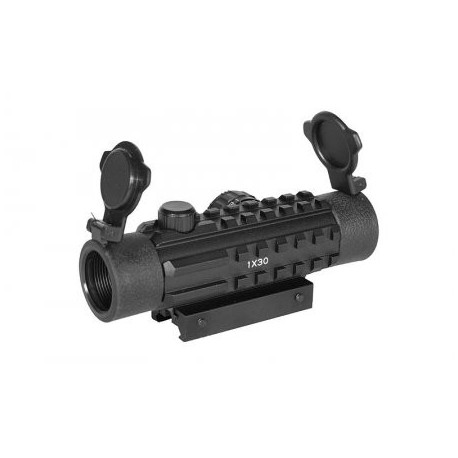 Kolimátor pre airsoftové zbrane ACM Dot Sight Tactical 1x30, 3 x lišta 22mm - čierny